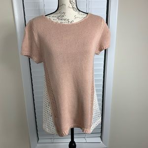 Anthropologie moth knit lace top